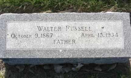 RUSSELL, WALTER - Nance County, Nebraska | WALTER RUSSELL - Nebraska Gravestone Photos