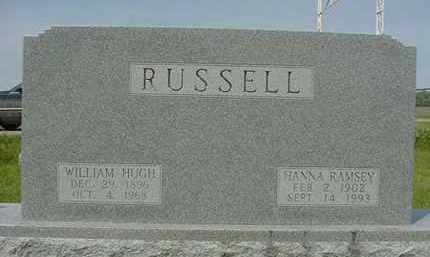RAMSEY RUSSELL, HANNA - Nance County, Nebraska | HANNA RAMSEY RUSSELL - Nebraska Gravestone Photos