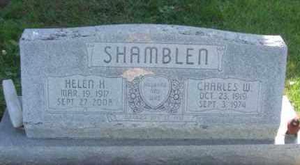 SHAMBLEN, CHARLES W. - Nance County, Nebraska | CHARLES W. SHAMBLEN - Nebraska Gravestone Photos