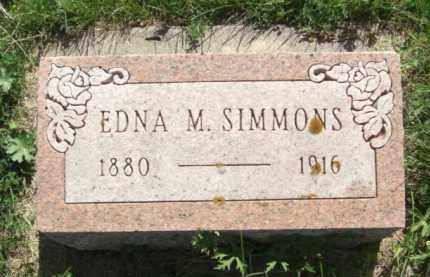 SIMMONS, EDNA M. - Nance County, Nebraska | EDNA M. SIMMONS - Nebraska Gravestone Photos