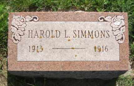 SIMMONS, HAROLD L. - Nance County, Nebraska | HAROLD L. SIMMONS - Nebraska Gravestone Photos