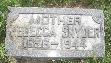 HARMON SNYDER, REBECCA - Nance County, Nebraska | REBECCA HARMON SNYDER - Nebraska Gravestone Photos