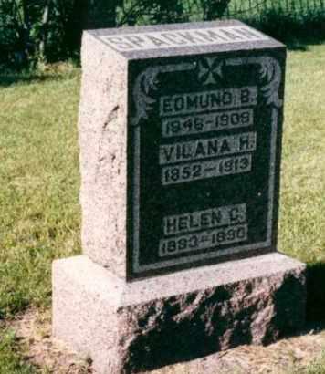 SMITH SPACKMAN, VILANA HELEN - Nance County, Nebraska | VILANA HELEN SMITH SPACKMAN - Nebraska Gravestone Photos