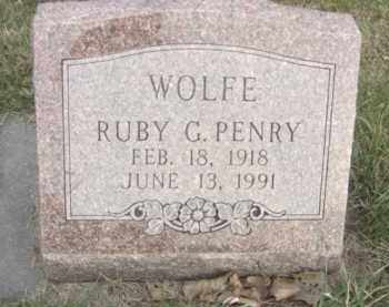 WOLFE, RUBY G. - Nance County, Nebraska | RUBY G. WOLFE - Nebraska Gravestone Photos