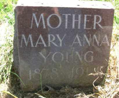 YOUNG, MARY ANNA - Nance County, Nebraska   MARY ANNA YOUNG - Nebraska Gravestone Photos