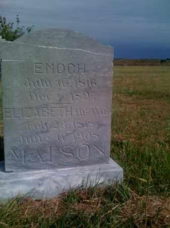 MATSON, ENOCH - Nuckolls County, Nebraska | ENOCH MATSON - Nebraska Gravestone Photos