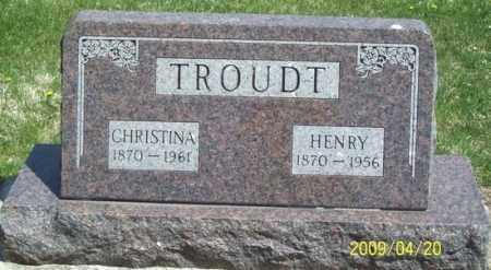 TROUDT, CHRISTINA - Nuckolls County, Nebraska | CHRISTINA TROUDT - Nebraska Gravestone Photos