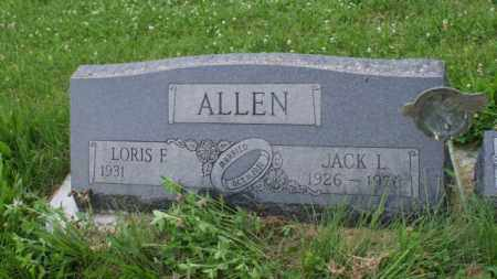 ALLEN, LORIS F. - Otoe County, Nebraska | LORIS F. ALLEN - Nebraska Gravestone Photos