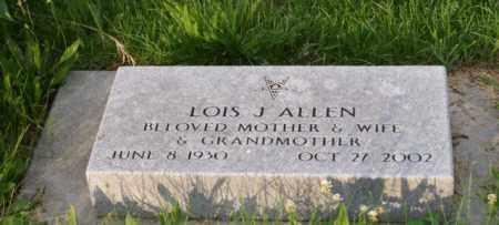 ALLEN, LOIS J. - Otoe County, Nebraska | LOIS J. ALLEN - Nebraska Gravestone Photos