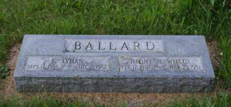 BALLARD, NAOMI N. - Otoe County, Nebraska | NAOMI N. BALLARD - Nebraska Gravestone Photos
