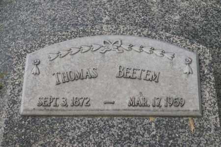 BEETEM, THOMAS - Otoe County, Nebraska | THOMAS BEETEM - Nebraska Gravestone Photos