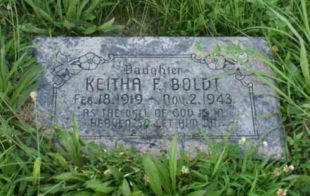 BOLDT, KEITHA F. - Otoe County, Nebraska | KEITHA F. BOLDT - Nebraska Gravestone Photos