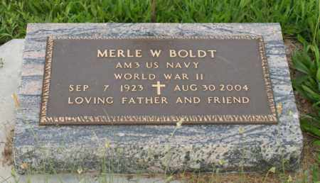 BOLDT, MERLE W. - Otoe County, Nebraska | MERLE W. BOLDT - Nebraska Gravestone Photos