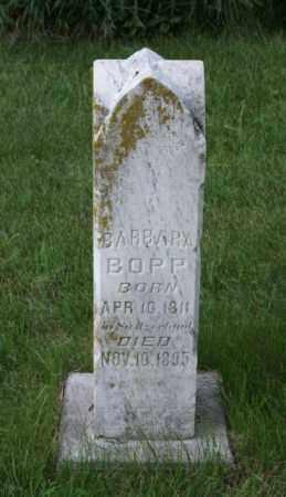 BOPP, BARBARA - Otoe County, Nebraska | BARBARA BOPP - Nebraska Gravestone Photos