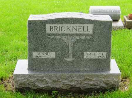 BRICKNELL, MINNIE - Otoe County, Nebraska   MINNIE BRICKNELL - Nebraska Gravestone Photos