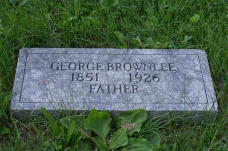 BROWNLEE, GEORGE - Otoe County, Nebraska | GEORGE BROWNLEE - Nebraska Gravestone Photos