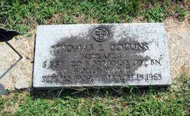 COLLINS, THOMAS - Otoe County, Nebraska | THOMAS COLLINS - Nebraska Gravestone Photos