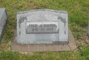 DAMME, FRED - Otoe County, Nebraska | FRED DAMME - Nebraska Gravestone Photos