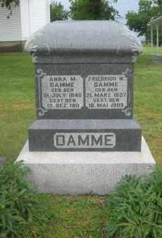 DAMME, FRIEDRICH - Otoe County, Nebraska   FRIEDRICH DAMME - Nebraska Gravestone Photos