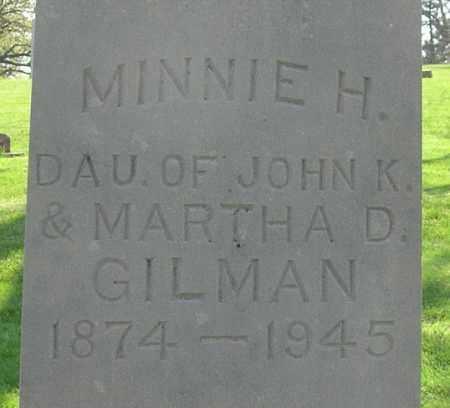 H. GILMAN, MINNIE - Otoe County, Nebraska | MINNIE H. GILMAN - Nebraska Gravestone Photos