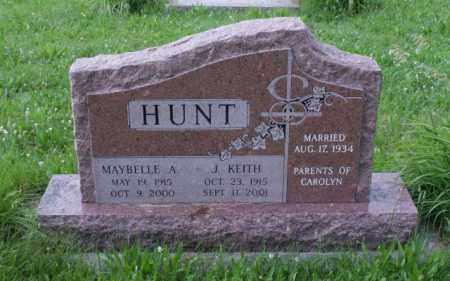 ABBOTT HUNT, MAYBELLE A. - Otoe County, Nebraska | MAYBELLE A. ABBOTT HUNT - Nebraska Gravestone Photos