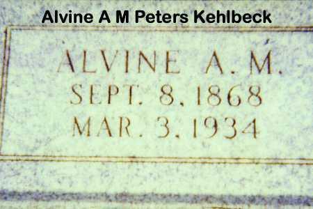 KEHLBECK, ALVINE A M - Otoe County, Nebraska | ALVINE A M KEHLBECK - Nebraska Gravestone Photos