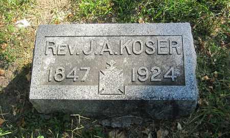 KOSER, JACOB ALFRED - Otoe County, Nebraska | JACOB ALFRED KOSER - Nebraska Gravestone Photos