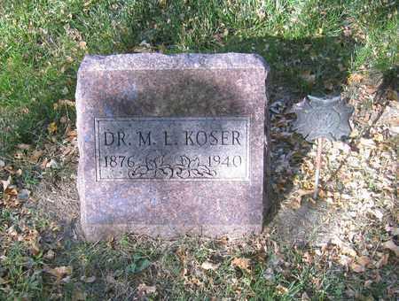 KOSER, MARTIN L. - Otoe County, Nebraska | MARTIN L. KOSER - Nebraska Gravestone Photos