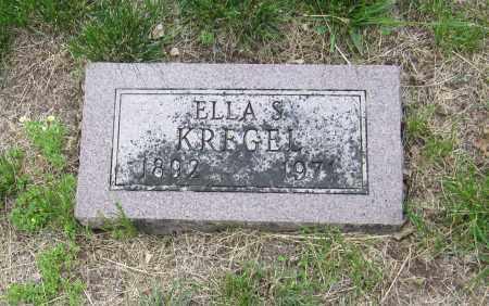 KREGEL, ELLA S. - Otoe County, Nebraska | ELLA S. KREGEL - Nebraska Gravestone Photos