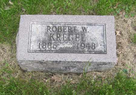KREGEL, ROBERT W. - Otoe County, Nebraska   ROBERT W. KREGEL - Nebraska Gravestone Photos