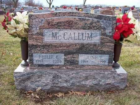MCCALLUM, PHILIP E. - Otoe County, Nebraska | PHILIP E. MCCALLUM - Nebraska Gravestone Photos
