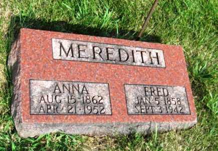 MEREDITH, ANNA - Otoe County, Nebraska | ANNA MEREDITH - Nebraska Gravestone Photos