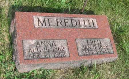 MEREDITH, FREDERICK - Otoe County, Nebraska | FREDERICK MEREDITH - Nebraska Gravestone Photos