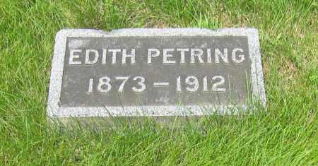 HANCOCK PETRING, EDITH - Otoe County, Nebraska | EDITH HANCOCK PETRING - Nebraska Gravestone Photos