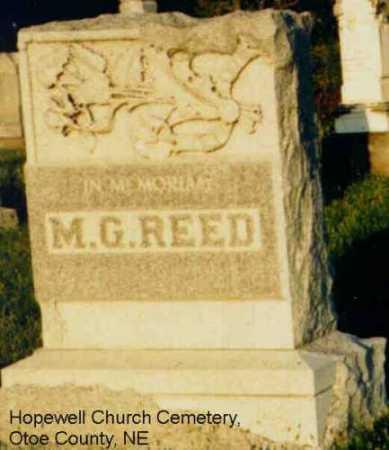 REED, MATTHEW GOODING - Otoe County, Nebraska   MATTHEW GOODING REED - Nebraska Gravestone Photos