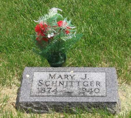SCHNITTGER, MARY - Otoe County, Nebraska | MARY SCHNITTGER - Nebraska Gravestone Photos