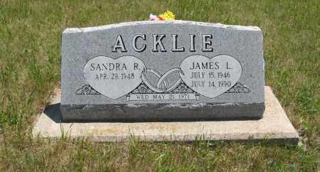ACKLIE, JAMES L. - Pierce County, Nebraska | JAMES L. ACKLIE - Nebraska Gravestone Photos