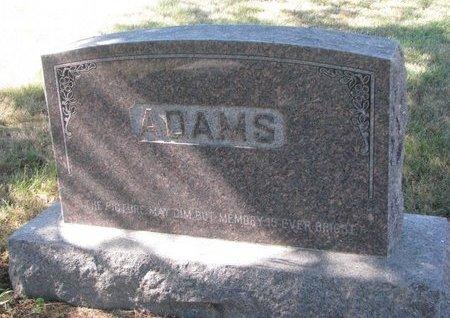 ADAMS, *FAMILY MONUMENT - Pierce County, Nebraska | *FAMILY MONUMENT ADAMS - Nebraska Gravestone Photos