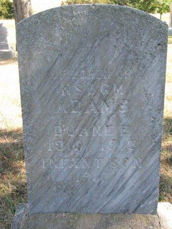ADAMS, INFANT SON - Pierce County, Nebraska   INFANT SON ADAMS - Nebraska Gravestone Photos