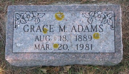 ADAMS, GRACE M. - Pierce County, Nebraska | GRACE M. ADAMS - Nebraska Gravestone Photos