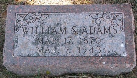 ADAMS, WILLIAM S. - Pierce County, Nebraska | WILLIAM S. ADAMS - Nebraska Gravestone Photos
