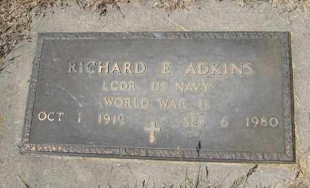 ADKINS, RICHARD E. (MILITARY MARKER) - Pierce County, Nebraska | RICHARD E. (MILITARY MARKER) ADKINS - Nebraska Gravestone Photos