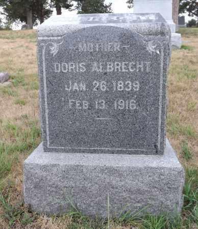 ALBRECHT, DORIS - Pierce County, Nebraska | DORIS ALBRECHT - Nebraska Gravestone Photos