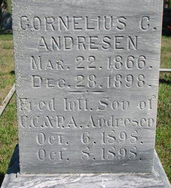 ANDRESEN, CORNELIUS C. (CLOSE UP) - Pierce County, Nebraska | CORNELIUS C. (CLOSE UP) ANDRESEN - Nebraska Gravestone Photos