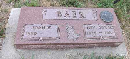 BAER, JOAN N. - Pierce County, Nebraska | JOAN N. BAER - Nebraska Gravestone Photos