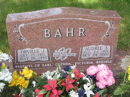 BAHR, AUDREE A. - Pierce County, Nebraska | AUDREE A. BAHR - Nebraska Gravestone Photos