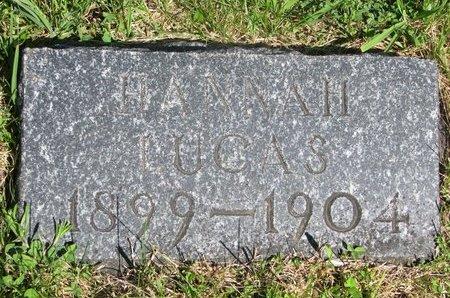 LUCAS, HANNAH - Pierce County, Nebraska   HANNAH LUCAS - Nebraska Gravestone Photos