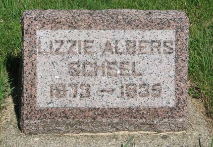 ALBERS SCHEEL, LIZZIE - Pierce County, Nebraska | LIZZIE ALBERS SCHEEL - Nebraska Gravestone Photos
