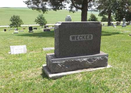WECKER, (FAMILY MONUMENT) - Pierce County, Nebraska | (FAMILY MONUMENT) WECKER - Nebraska Gravestone Photos