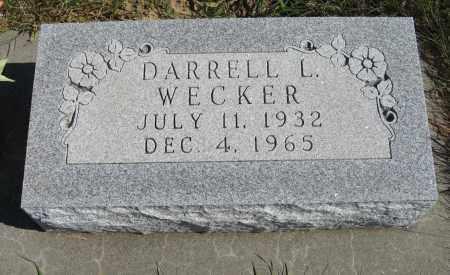 WECKER, DARRELL L. - Pierce County, Nebraska | DARRELL L. WECKER - Nebraska Gravestone Photos